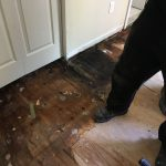 Floor Damages Around Bathroom