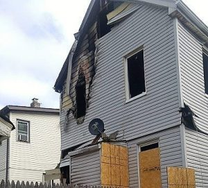 Home Destroyed by Fire Damage